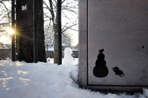 Pahnl's Snowman Cat graffiti Art