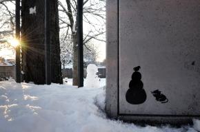 Pahnl's Snowman Cat graffiti Art
