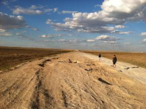 """Kazakhstan, where the potholes form an orderely queue to your destination and everyone calls it """"a road""""."""